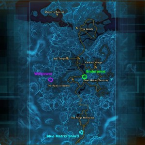 Tython datacron locations on main map