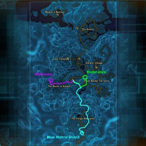 Tython datacron locations & path on main map
